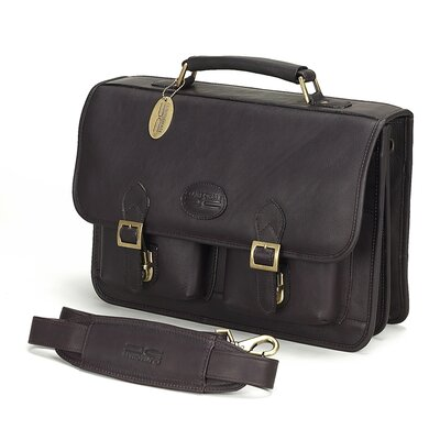 Business Leather Laptop Briefcase by Claire Chase