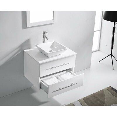 Virtu Ultra Modern 30 Single Marsala Bathroom Vanity Set With Mirror Reviews Wayfair