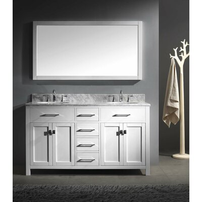 "Caroline 60"" Double Bathroom Vanity Set with Mirror Product Photo"