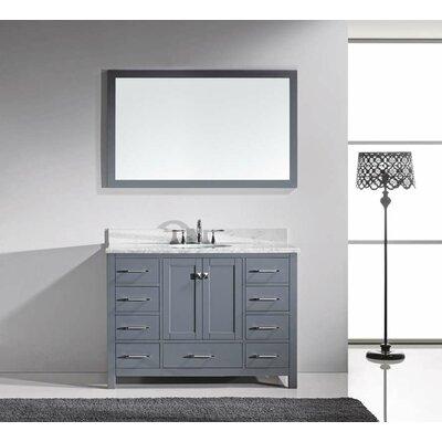 Virtu Caroline Avenue 49 Single Bathroom Vanity Set With Mirror Reviews Wayfair