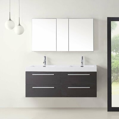 """Finley 54"""" Floating Double Bathroom Vanity Set Product Photo"""
