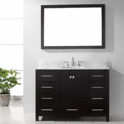 "Caroline Avenue 49"" Single Bathroom Vanity Set with Mirror Product Photo"