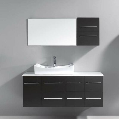 "Ultra Modern 53"" Single Bathroom Vanity Set with Mirror Product Photo"