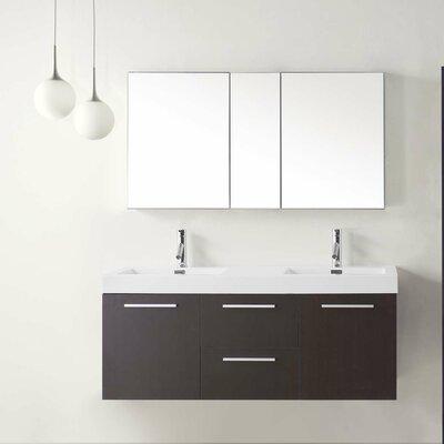 """Midori 54"""" Floating Double Bathroom Vanity Set Product Photo"""