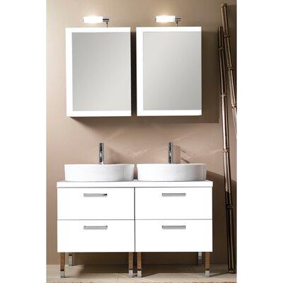 "Iotti by Nameeks Aurora 45"" Double Bathroom Vanity Set with Mirror"