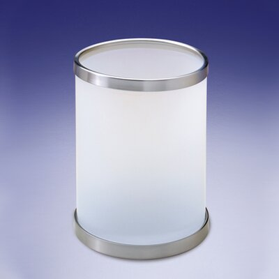 Frozen Glass Waste Basket with Open Top by Windisch by Nameeks