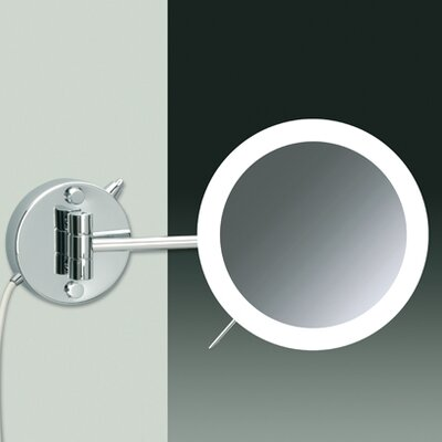 Windisch by Nameeks Wall Mount LED 3X Magnifying Mirror with Wired Connection