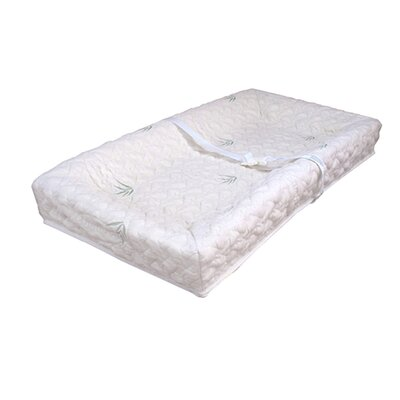 L.A. Baby 4-Sided Square Corner Changing Pad with Natural Bamboo Quilted Cover