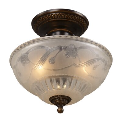 "11"" Restoration 3 Light Semi Flush Mount Product Photo"