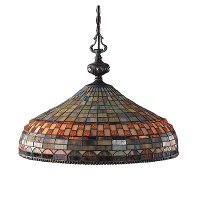 Jewelstone 3 Light Pendant by Landmark Lighting