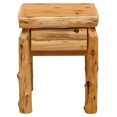 Cedar 1 Drawer Nightstand by Fireside Lodge