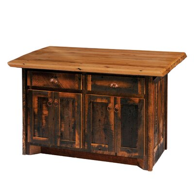 Reclaimed Barnwood Kitchen Island Product Photo
