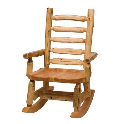 Traditional Cedar Log Rocking Chair by Fireside Lodge
