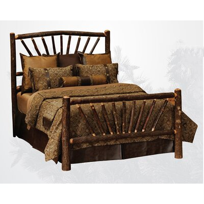 Hickory Slat Panel Bed by Fireside Lodge
