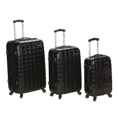 Celebrity 3 Piece Polycarbonate/ABS Spinner Luggage Set by Rockland