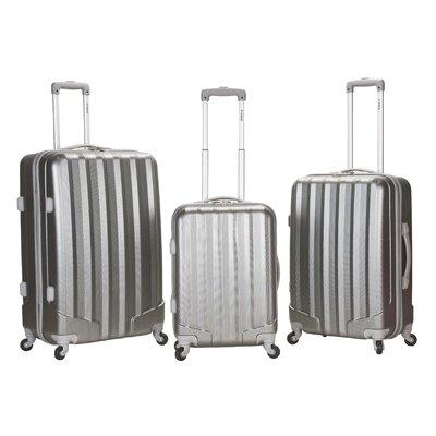 Metallic 3 Piece Upright Hardsided Luggage Set by Rockland