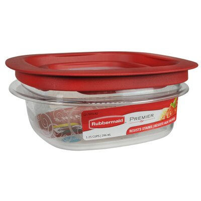 Rubbermaid 1.25 Cup Premier Square Food Storage Container