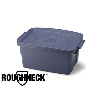 Rubbermaid 3 Gallon Roughneck Storage Box in Steel Gray