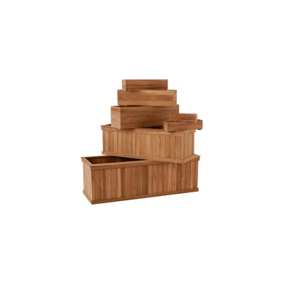 Diamond Teak Rectangular Window Box