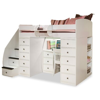 Berg Sierra Twin Space Saver Loft Bed With Desk Amp Storage