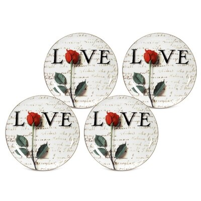 """PS Collection Love Letters 8"""" Dessert / Salad Plate"""