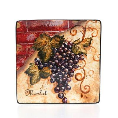 Certified International Wine Cellar by Tre Studios Square Salad Plate