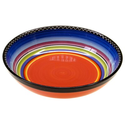 Certified International Tequila Sunrise Serving Pasta Bowl
