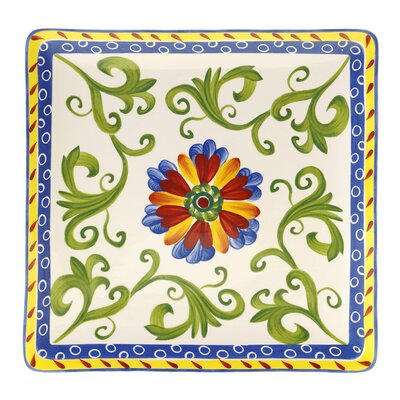 Certified International Amalfi Square Platter