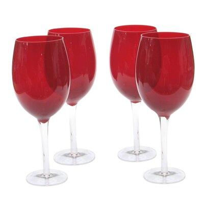 Glass Stemware Ruby White Wine Glasses (Set of 4) by Certified International