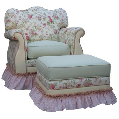 English Bouquet Adult Empire Glider Rocker by Angel Song