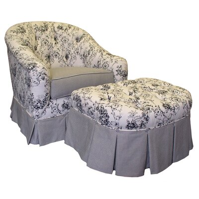 Toile Black Adult Park Ave Glider Rocker and Ottoman by Angel Song
