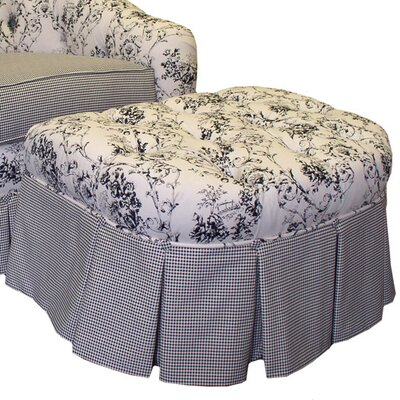 Angel Song Toile Black Adult Empire Ottoman