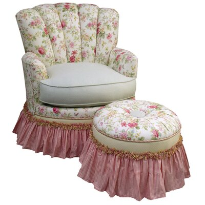 English Bouquet Adult Princess Glider Rocker and Ottoman by Angel Song