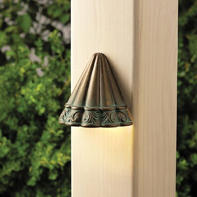 Kichler Ainsley Square Scalloped Deck Light