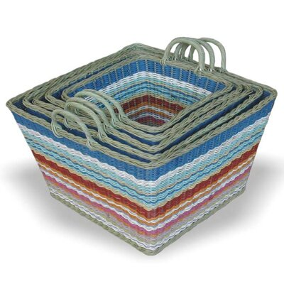 Jeffan Funstripes Square Basket