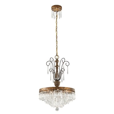 Le Marais 5 Light Crystal Chandelier by Troy Lighting