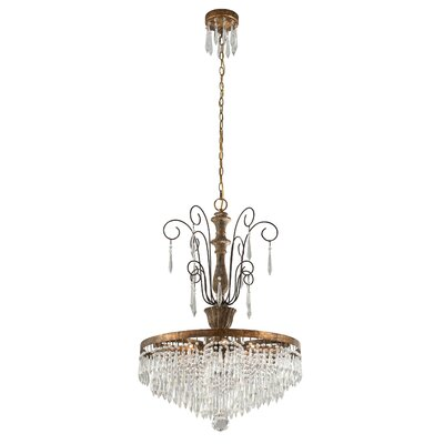 Le Marais 6 Light Crystal Chandelier by Troy Lighting
