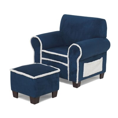 Club Chair and Ottoman in Blue by Hannah Baby