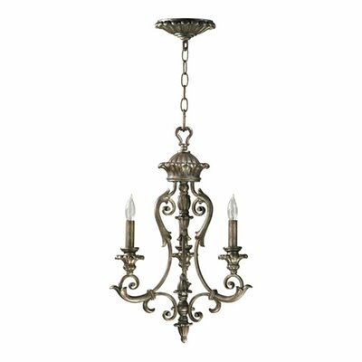 Barcelona 3 Light Chandelier in Mystic Silver Product Photo