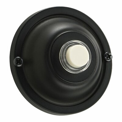 Quorum Basic Round Door Chime Button in Old World