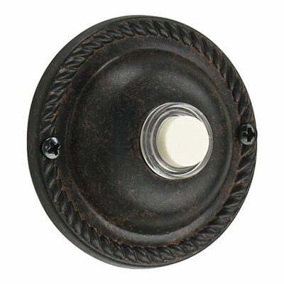 Quorum Traditional Round Door Chime Button in Toasted Sienna