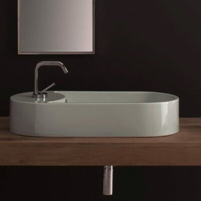 Seventy Above Counter Single Hole Bathroom Sink by Scarabeo by Nameeks