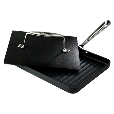 """All-Clad Specialty Cookware 2 Piece 8"""" x 10"""" Nonstick Panini Pan Set"""