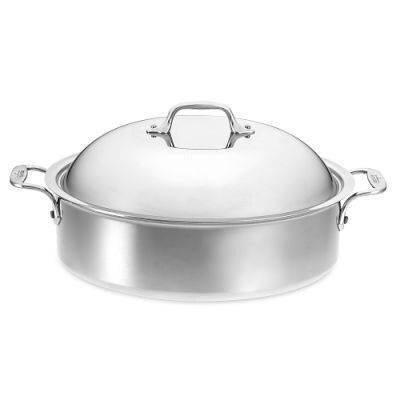 6 Qt. Aluminum Round Braiser with Lid by All-Clad