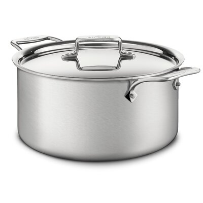d5 Brushed Stainless Steel Stock Pot with Lid by All-Clad