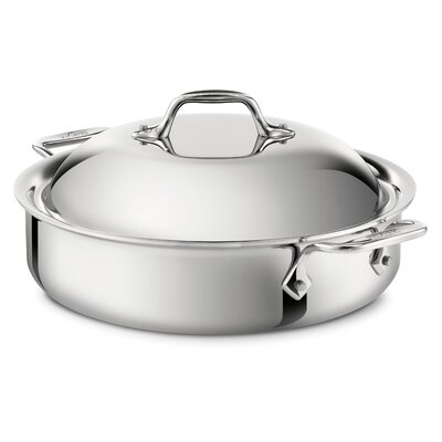 All-Clad Stainless Steel 4-qt. Sauteuse Pan with Lid