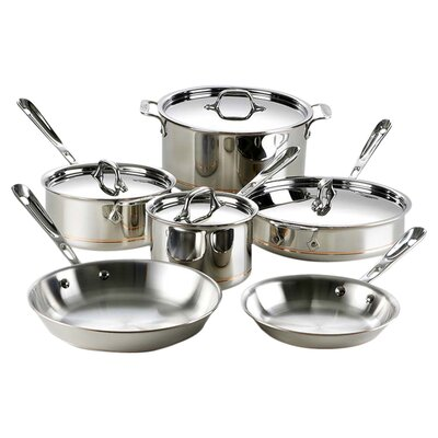Copper Core 10-Piece Cookware Set by All-Clad