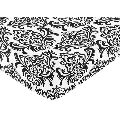 Sweet Jojo Designs Isabella Black and White Fitted Crib Sheet