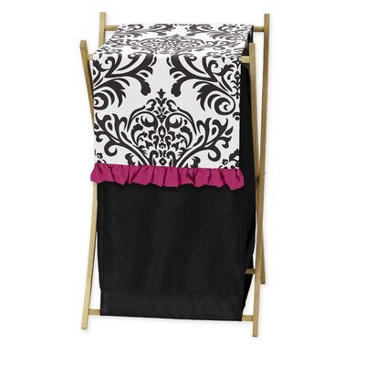 Sweet Jojo Designs Isabella Hot Pink, Black and White Laundry Hamper