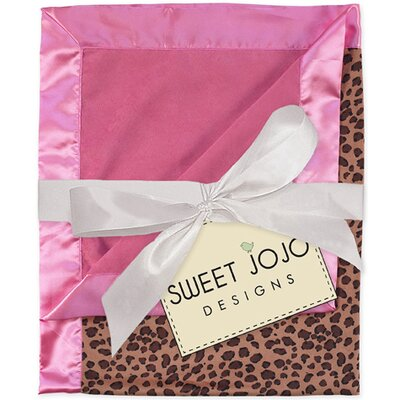 Cheetah Pink Baby Blanket by Sweet Jojo Designs